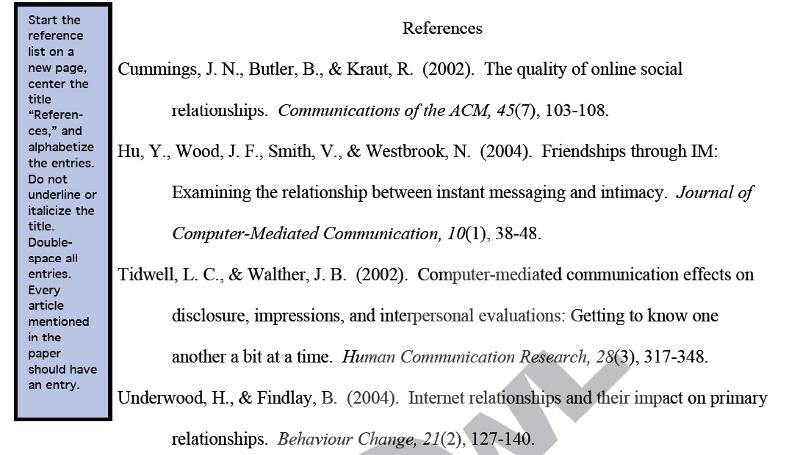 references Online Citation Apa Format Example on style format, reference for book, 6th edition journal, powerpoint presentation, reference page, page number, text paper, written book, 6th edition, magazine article,